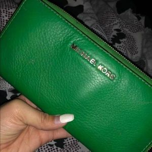 Michael kors green wallet